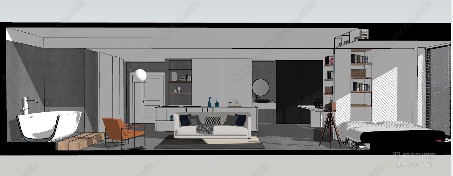现代公寓 客厅 书房 卧室 书桌 餐厅 厨房 沙发茶几 饰品 摆件办公室 搁层 书桌 室内 家具