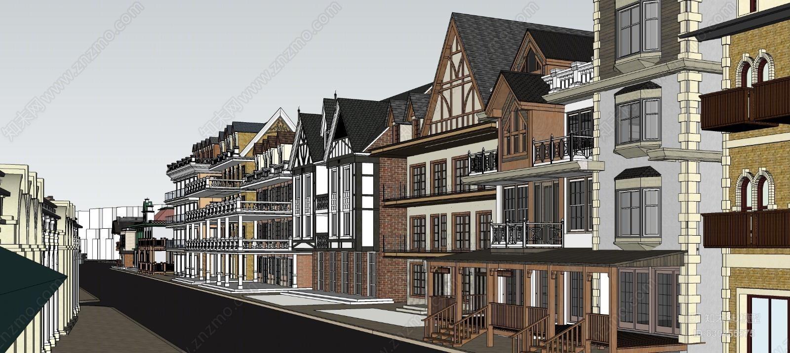 北欧商业风情街街景
