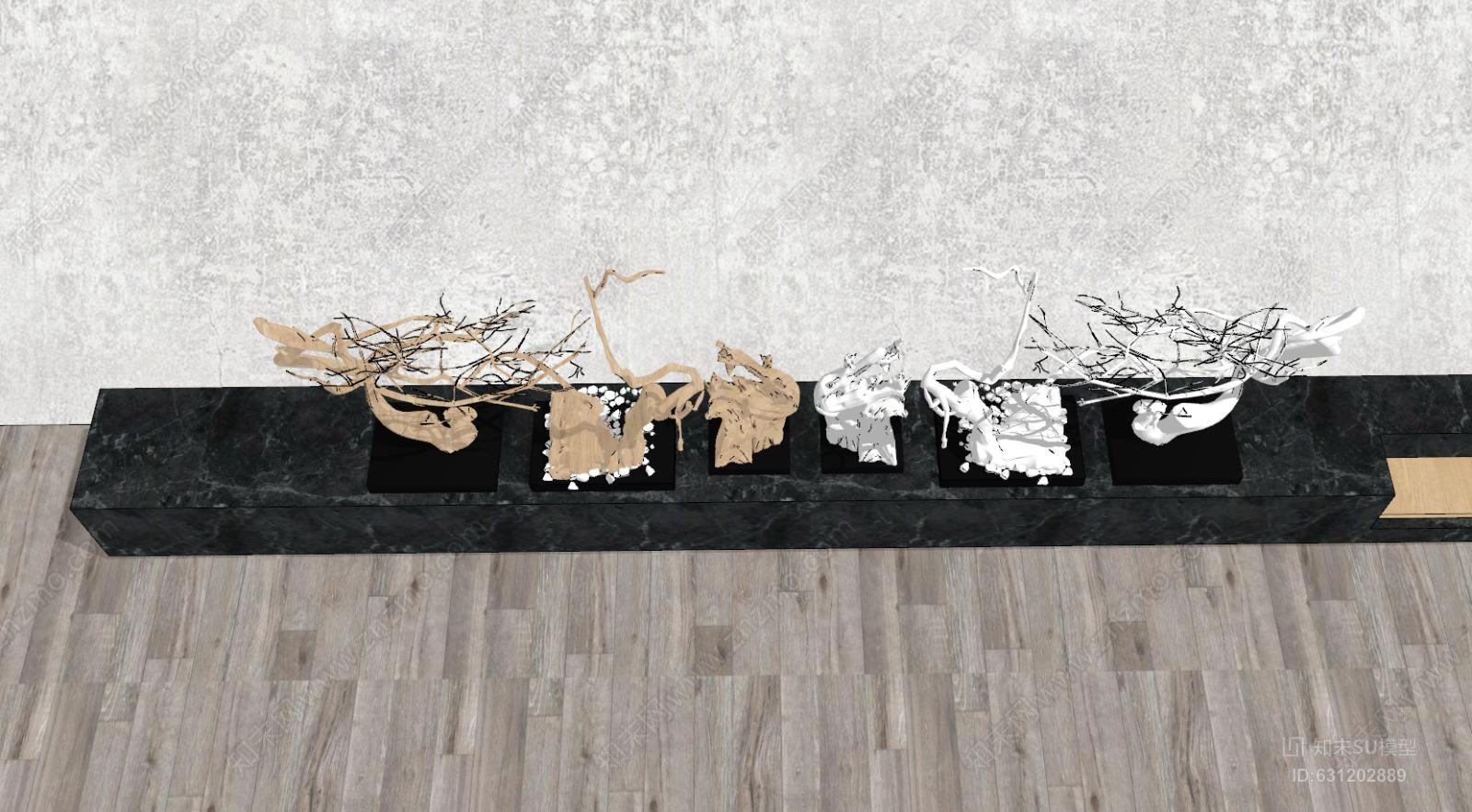 新中式干枝饰品摆件