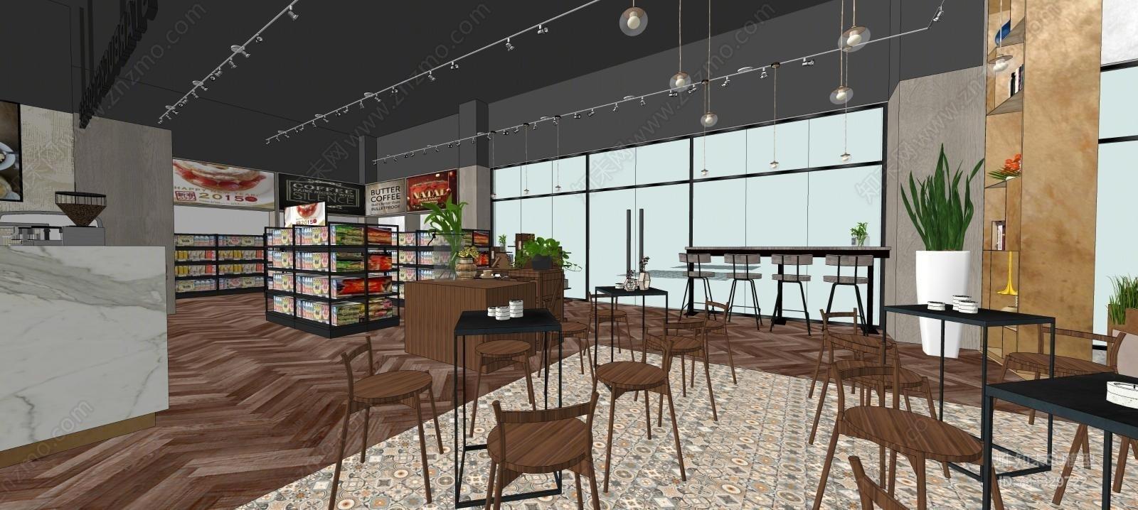 店铺餐饮空间模型