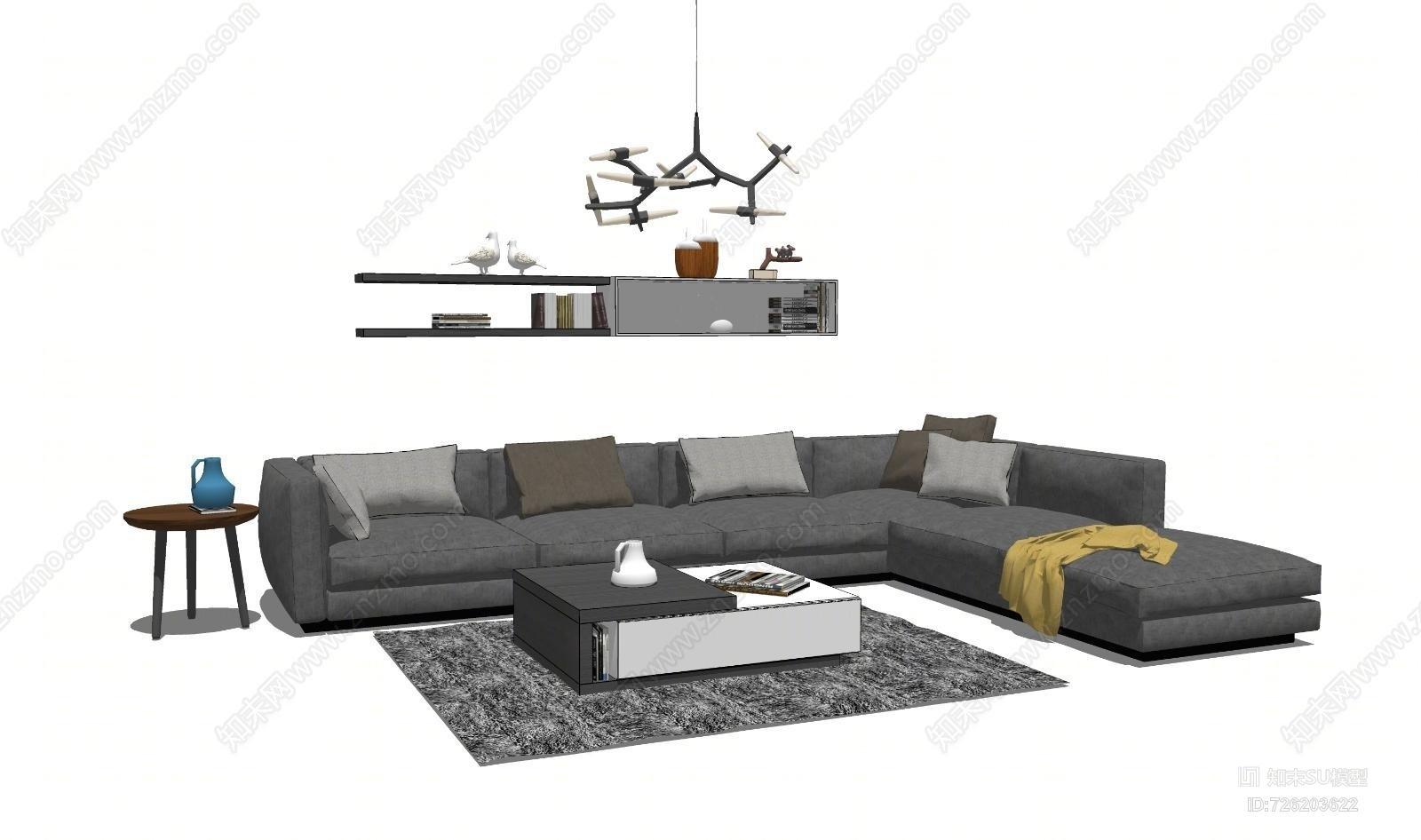 客厅沙发茶几组合20沙发 机械 家具 收割机 工地