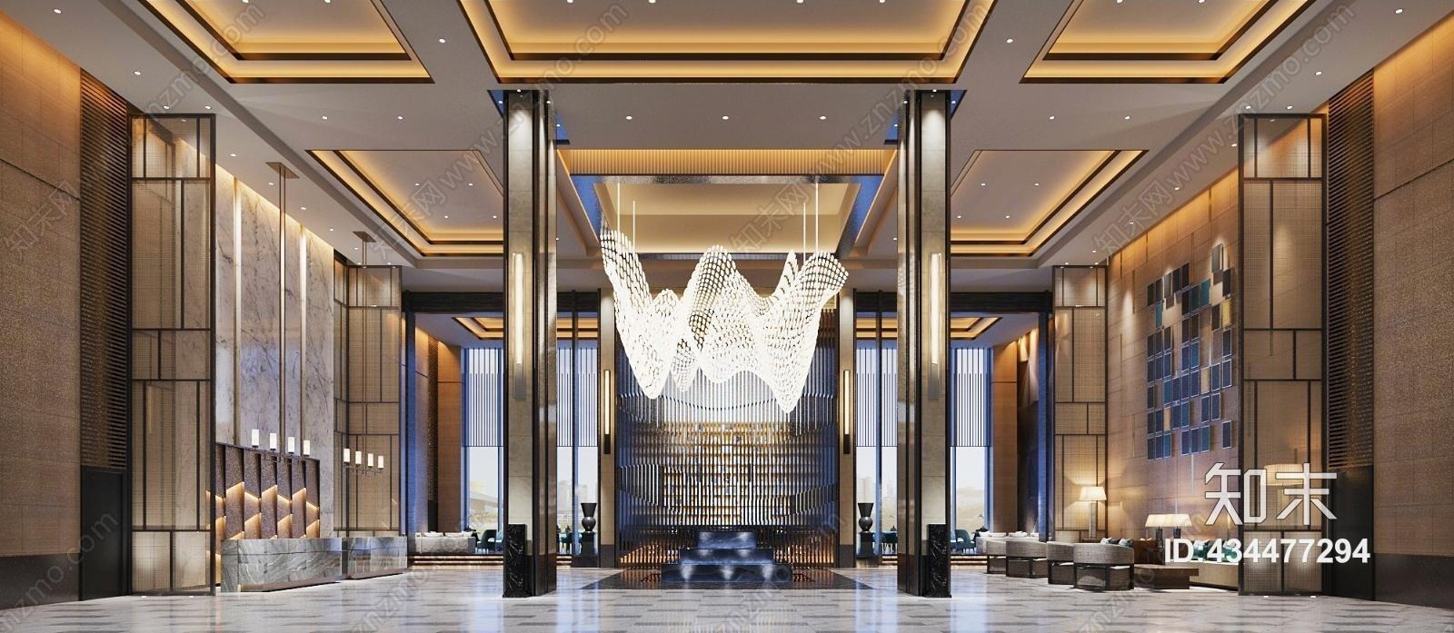 现代酒店大堂