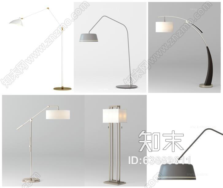 落地灯具组合 现代灯具 落地灯 灯具组合