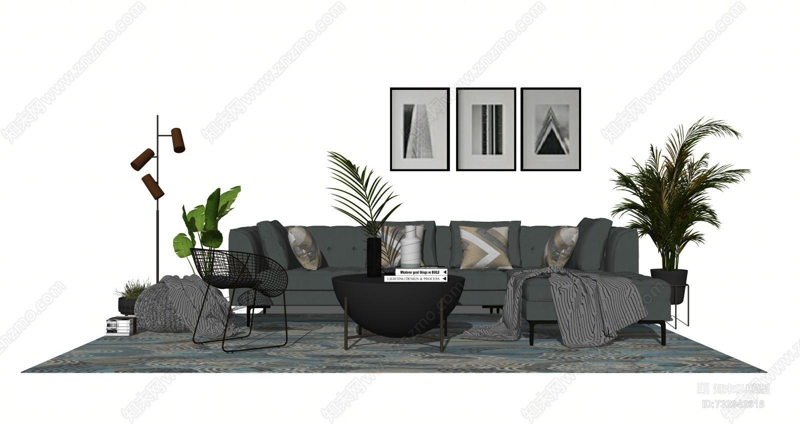 现代客厅组合 沙发