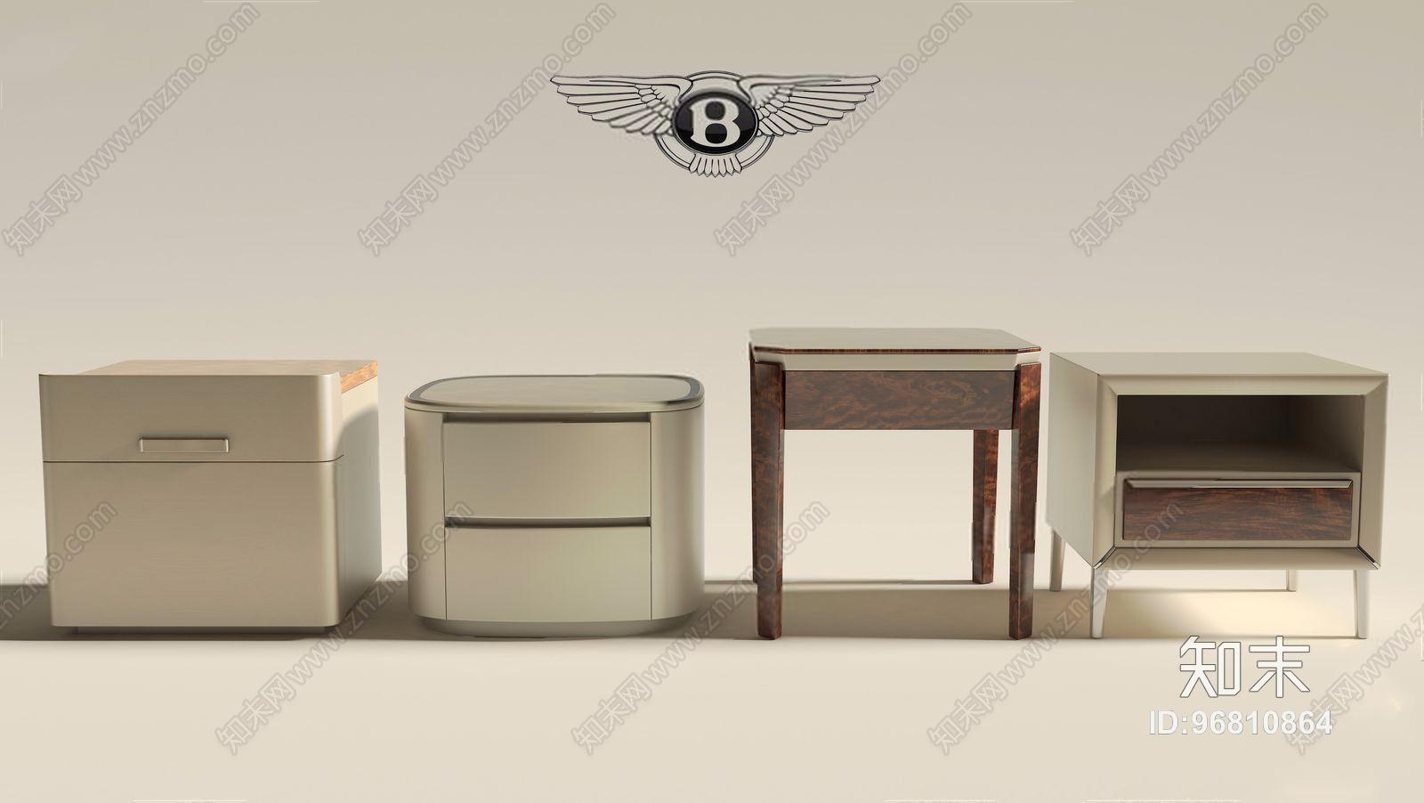 意大利 宾利 Bentley Home床头柜 现代床头柜 边几 意大利 Bentley Home 宾利