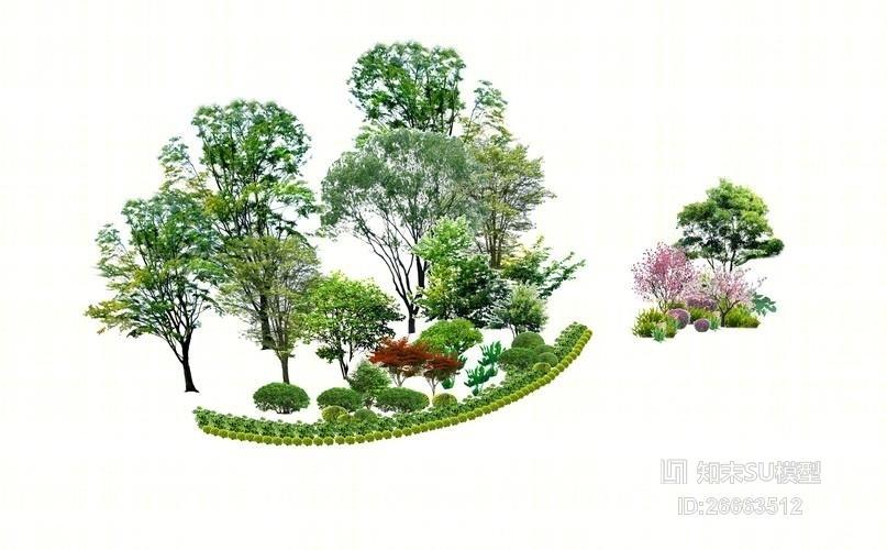 精品免费植物标段SU模型