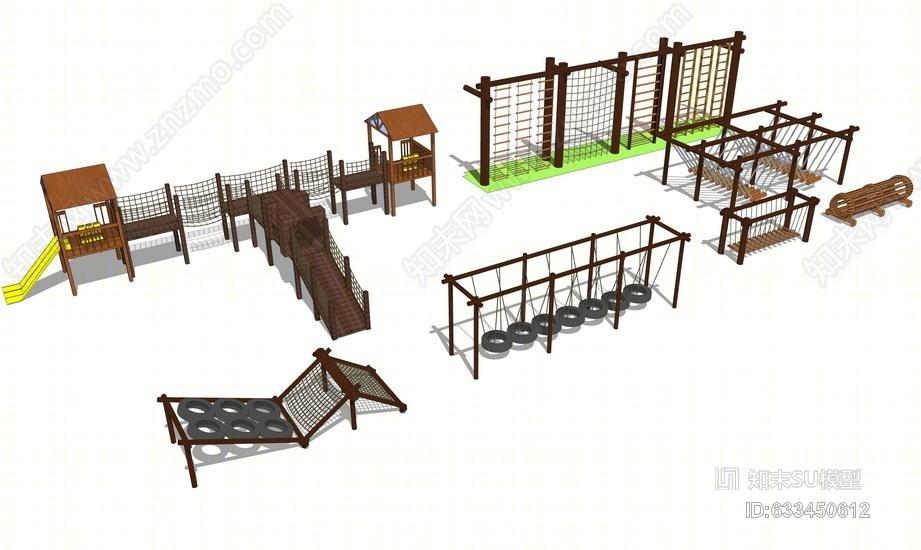 儿童攀爬设施SU模型