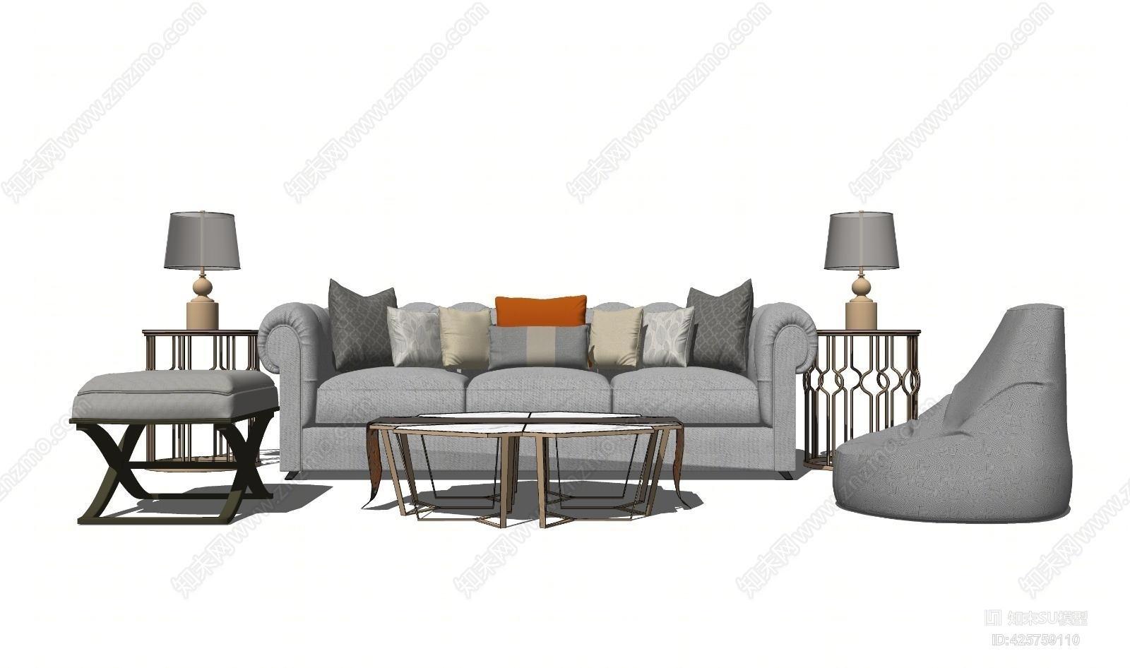 欧式风格沙发组合