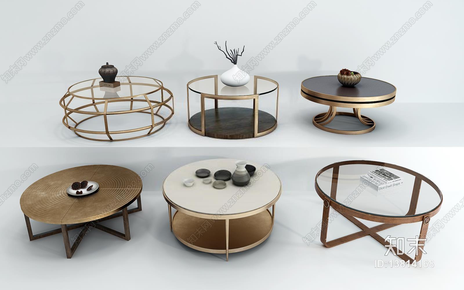 新中式茶几组合 茶几 桌几 边几