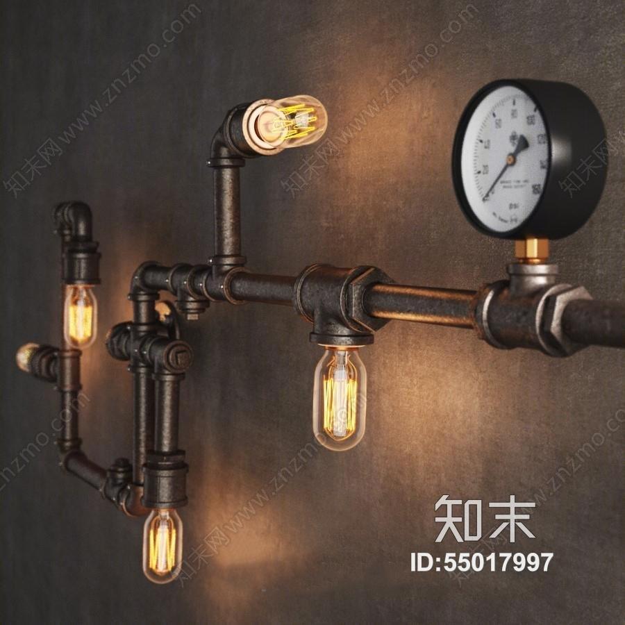 复古工业风格金属管具壁灯null