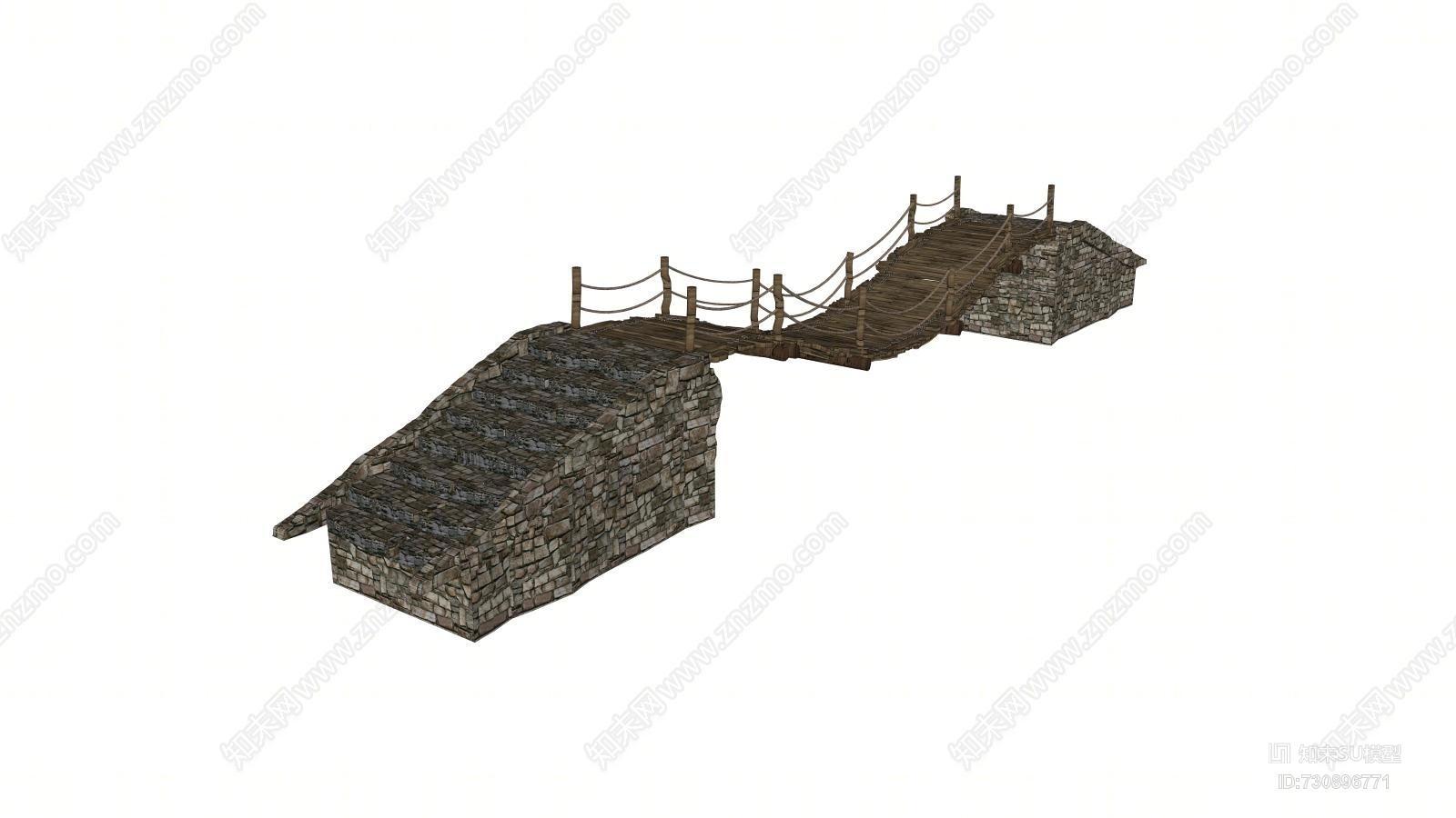 公园 风景区吊桥