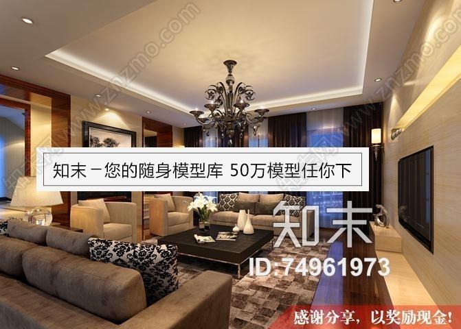 简约客厅、沙发、水晶灯2008版本null