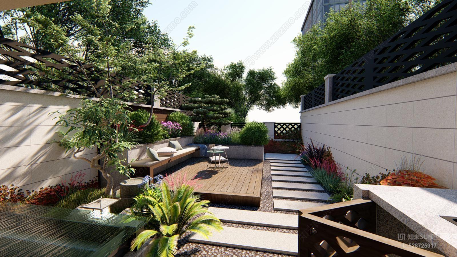 精致现代小庭院 无绿植