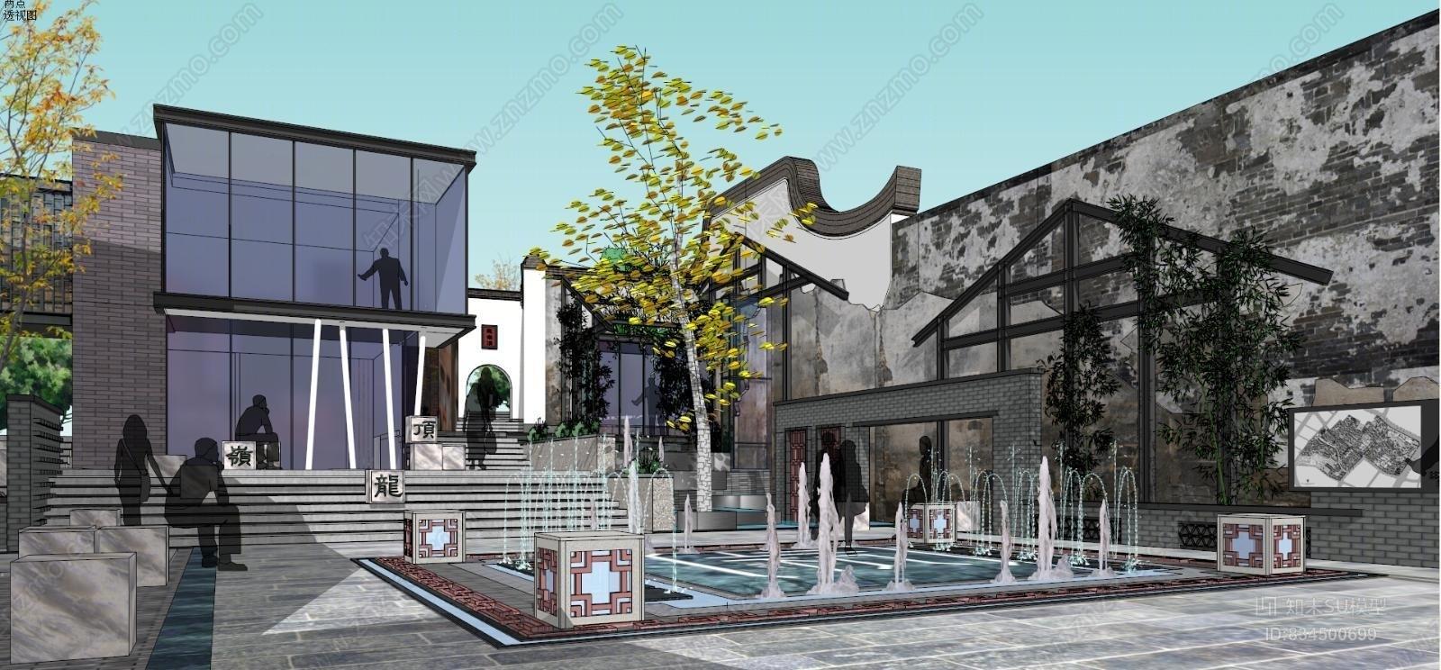 中式商业综合体广场
