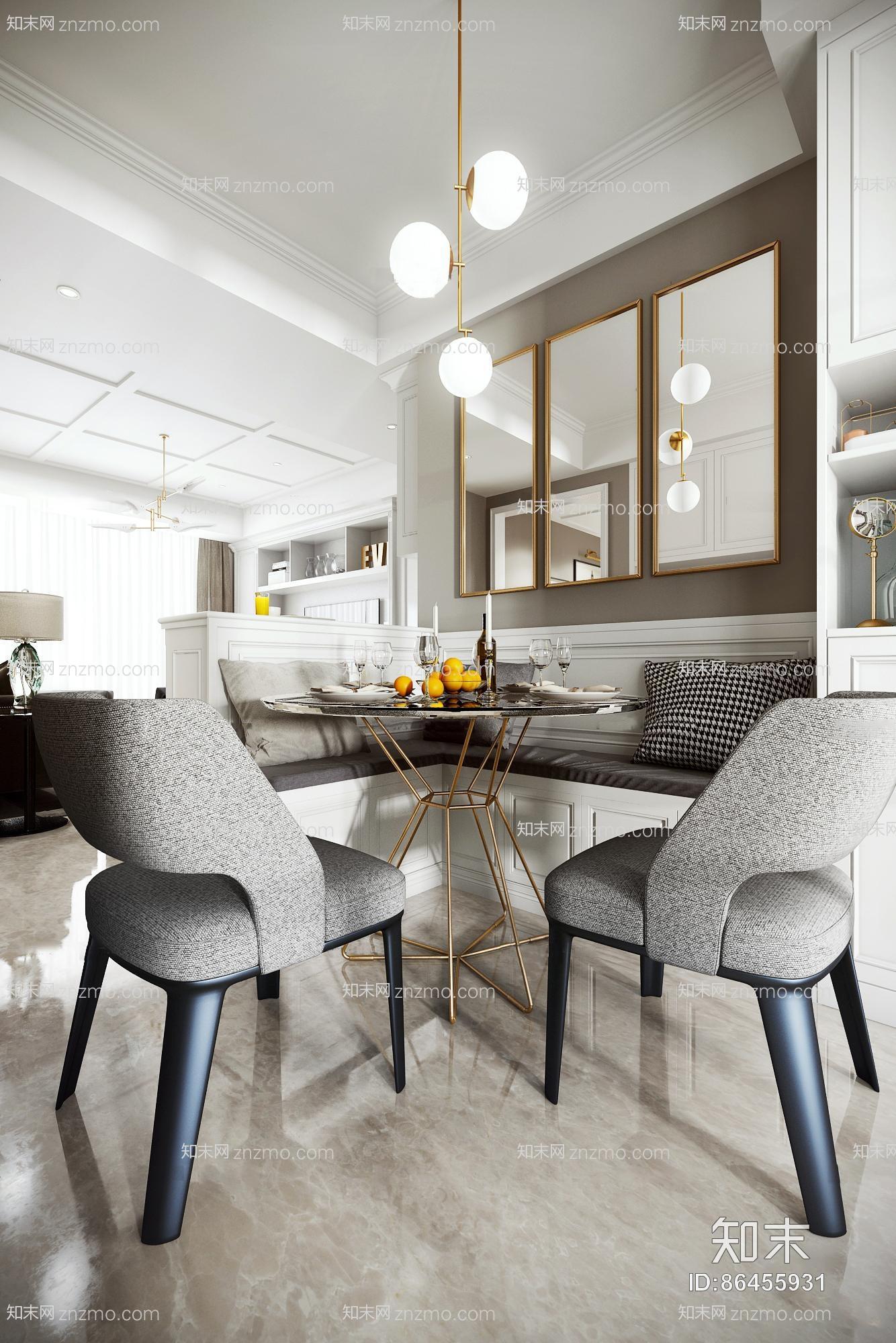 现代客厅餐厅门厅 吊灯 台灯 单双人沙发 茶几 置物柜 储物柜 装饰柜 挂画 餐桌椅