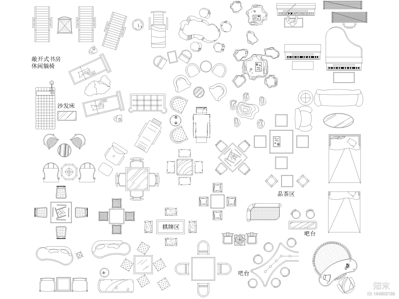 CAD全面完整平面图库施工图下载【ID:164902166】