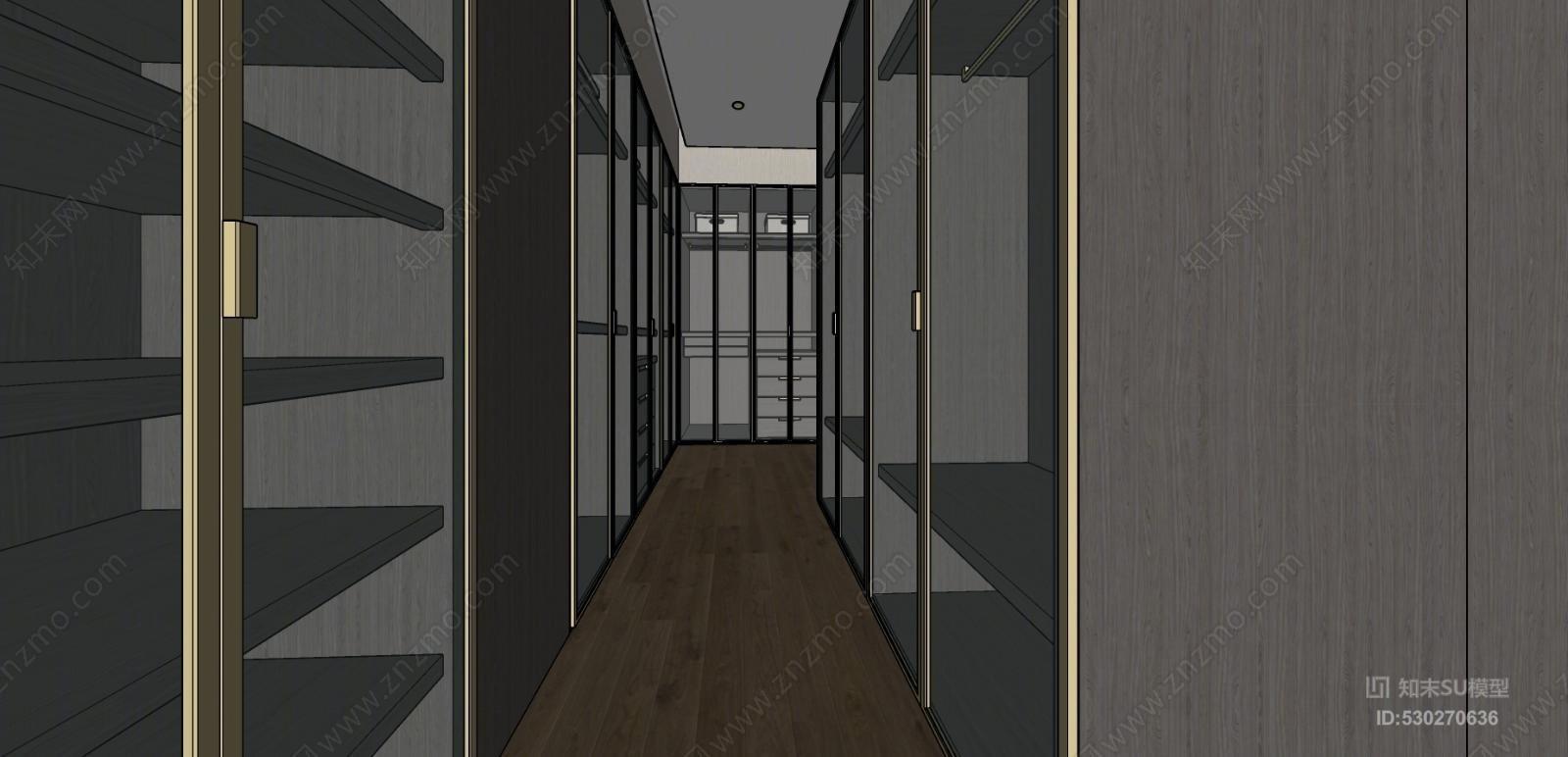 现代衣帽间衣柜玻璃门楼梯扶手 滑动门 监狱 楼梯 衣柜