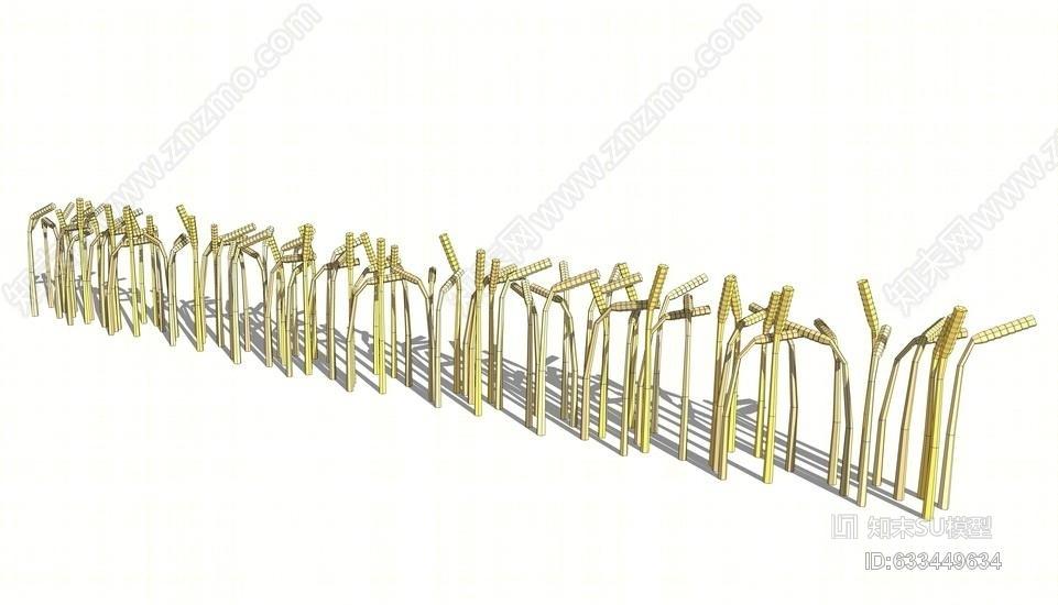麦穗雕塑SU模型