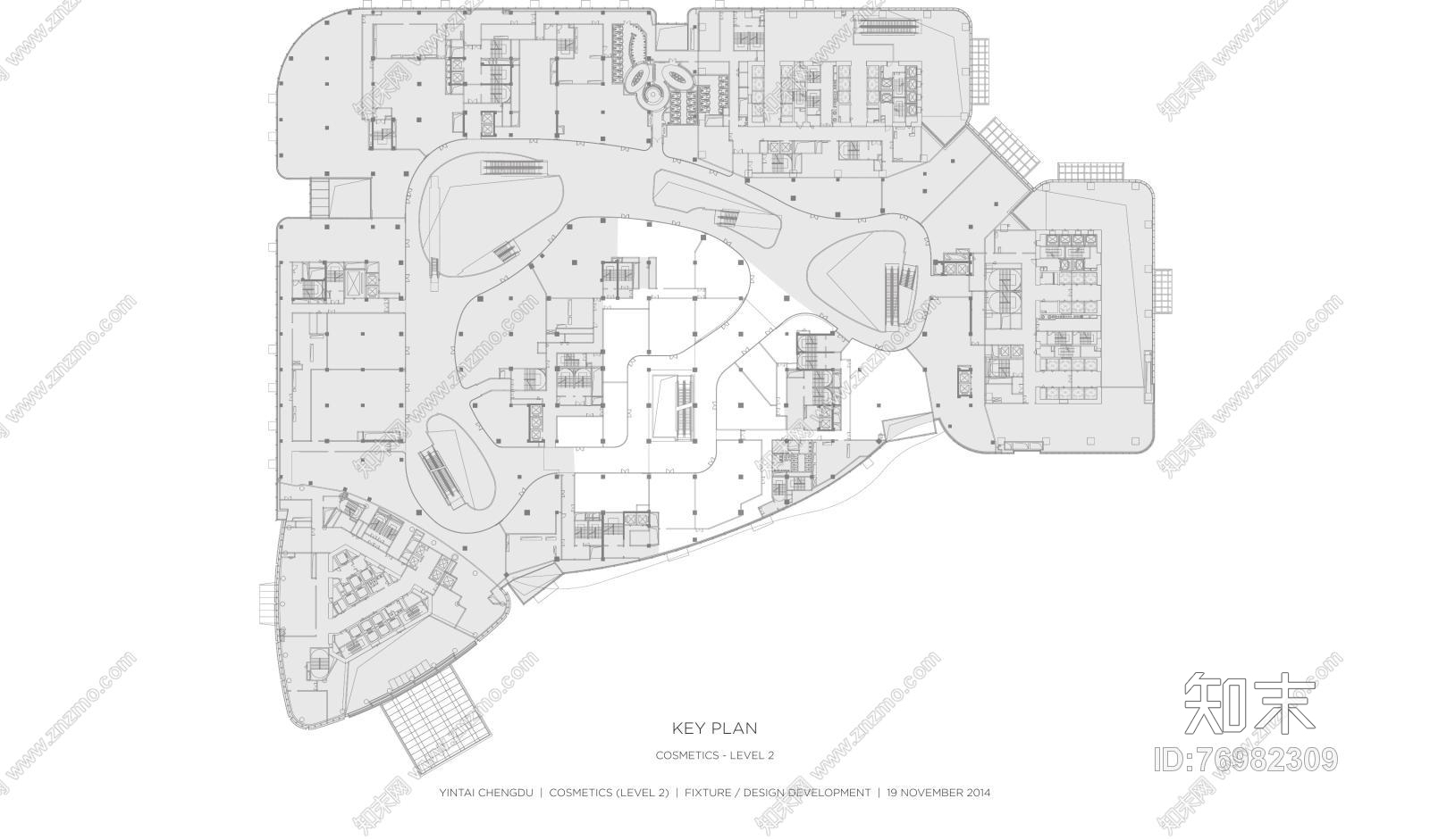 Yabu-成都银泰购物中心施工图下载【ID:76982309】