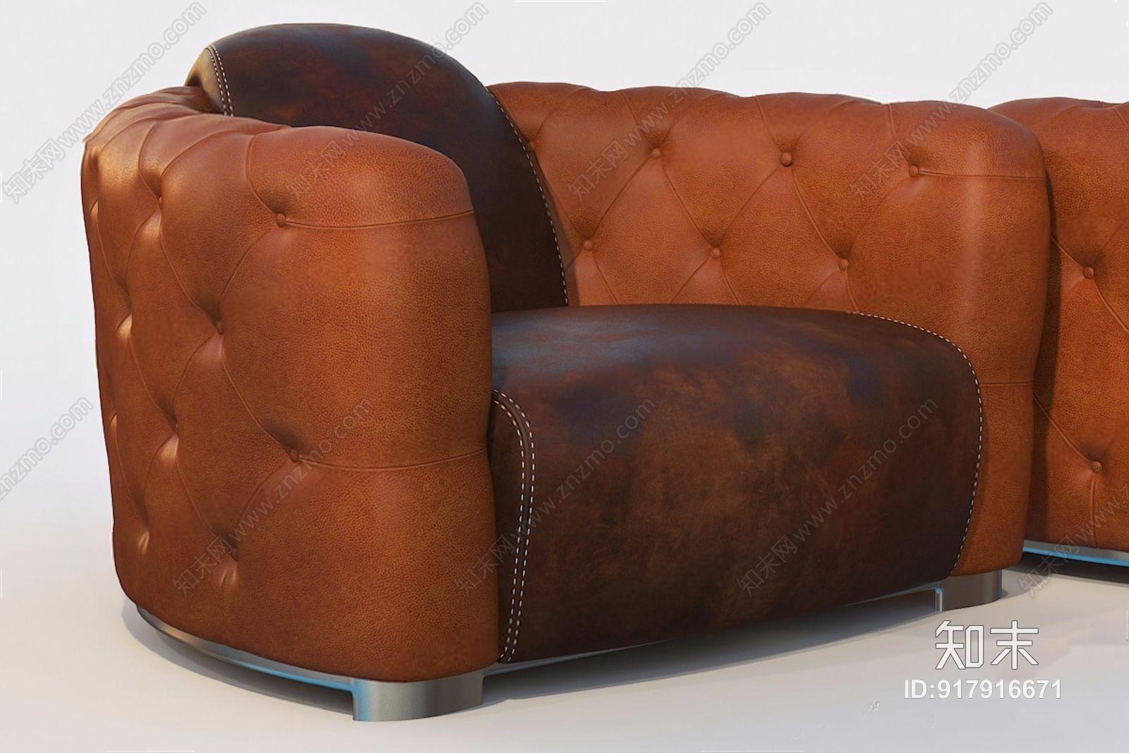 美式皮革单人沙发 美式单人沙发 皮革沙发 单人沙发