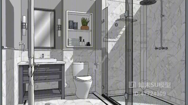 家居卫生间 草图大师模型