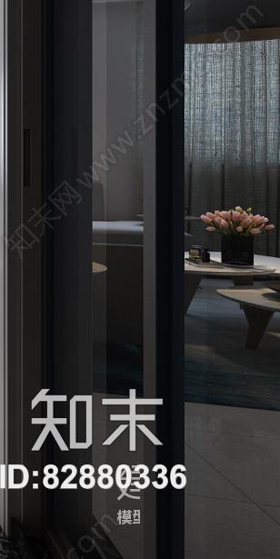 现代风格客餐厅 现代客餐厅 餐桌椅 转角沙发 茶几 吊灯 台灯 角几