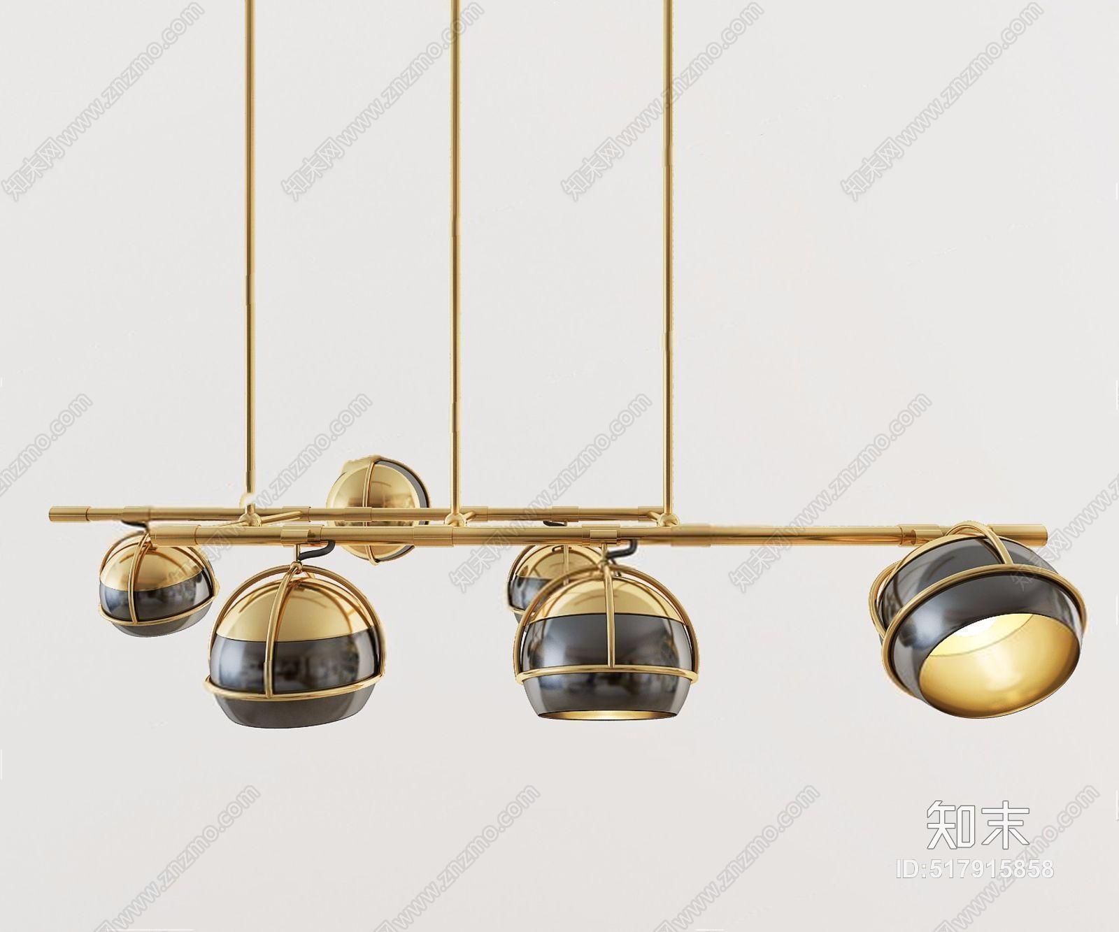后现代吊灯组合 后现代吊灯 金属吊灯 多头吊灯 吊灯组合