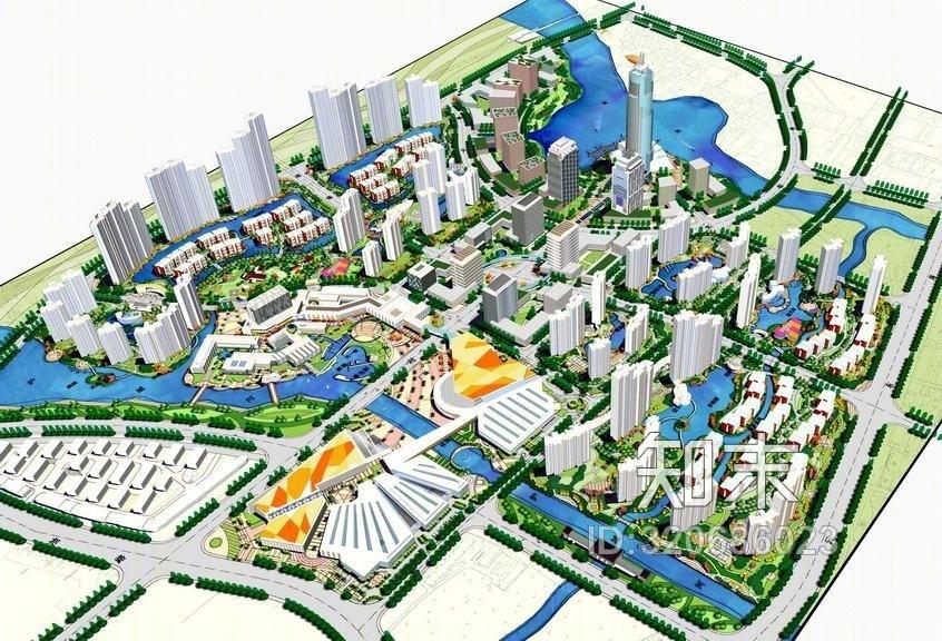 城市规划SU模型SU模型下载【ID:320686023】