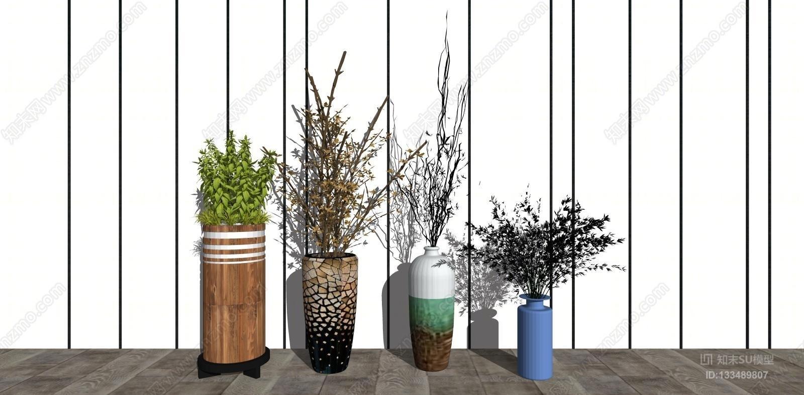 盆栽花瓶组合