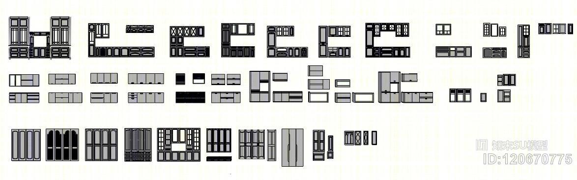 橱柜衣柜厨房柜酒柜定制家具门型现代欧式风格都有