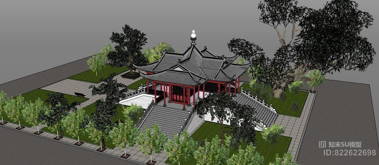 中国古建筑模型