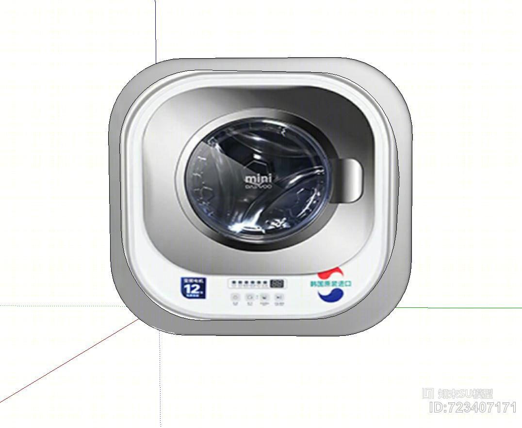 壁挂式的小洗衣机SU模型下载【ID:723407171】