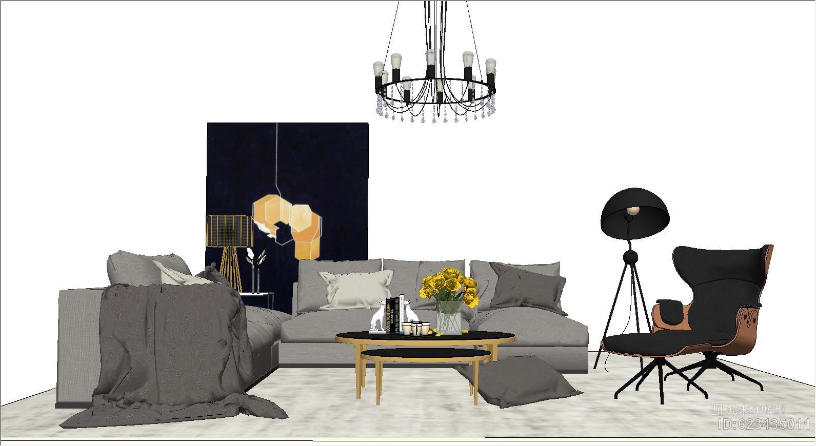 现代轻奢客厅家具组合