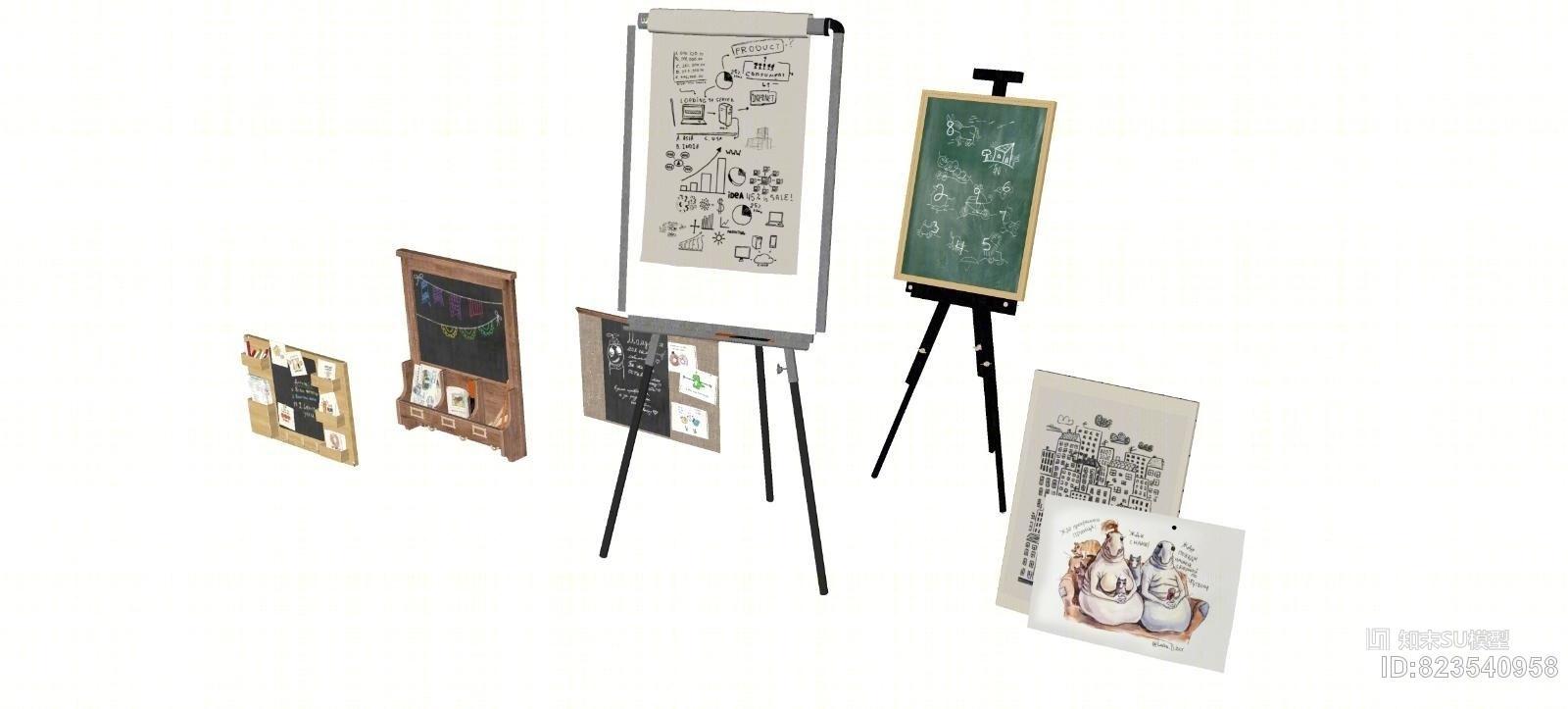 现代画架磁力黑板