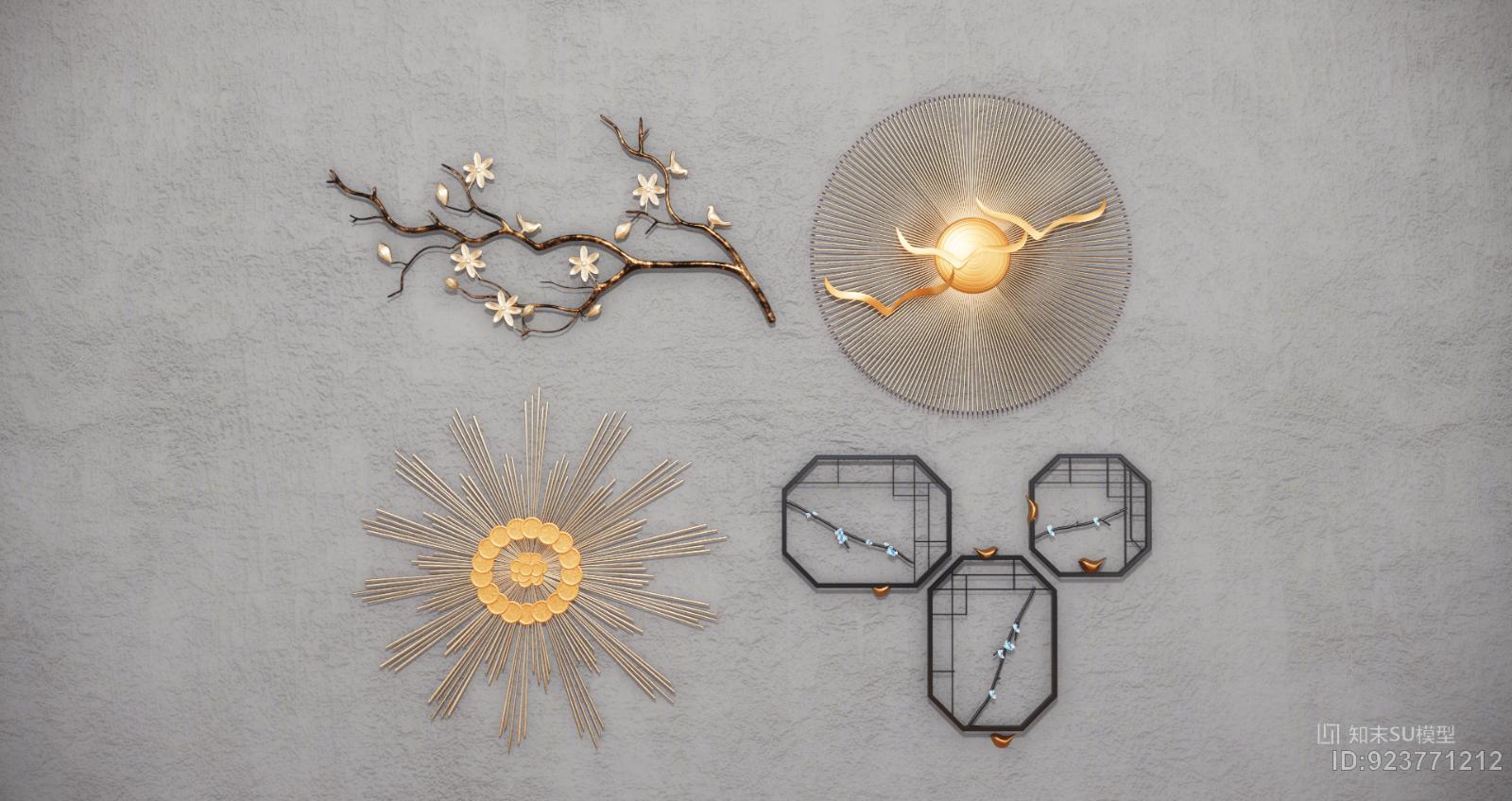 新中式现代墙饰挂件饰品