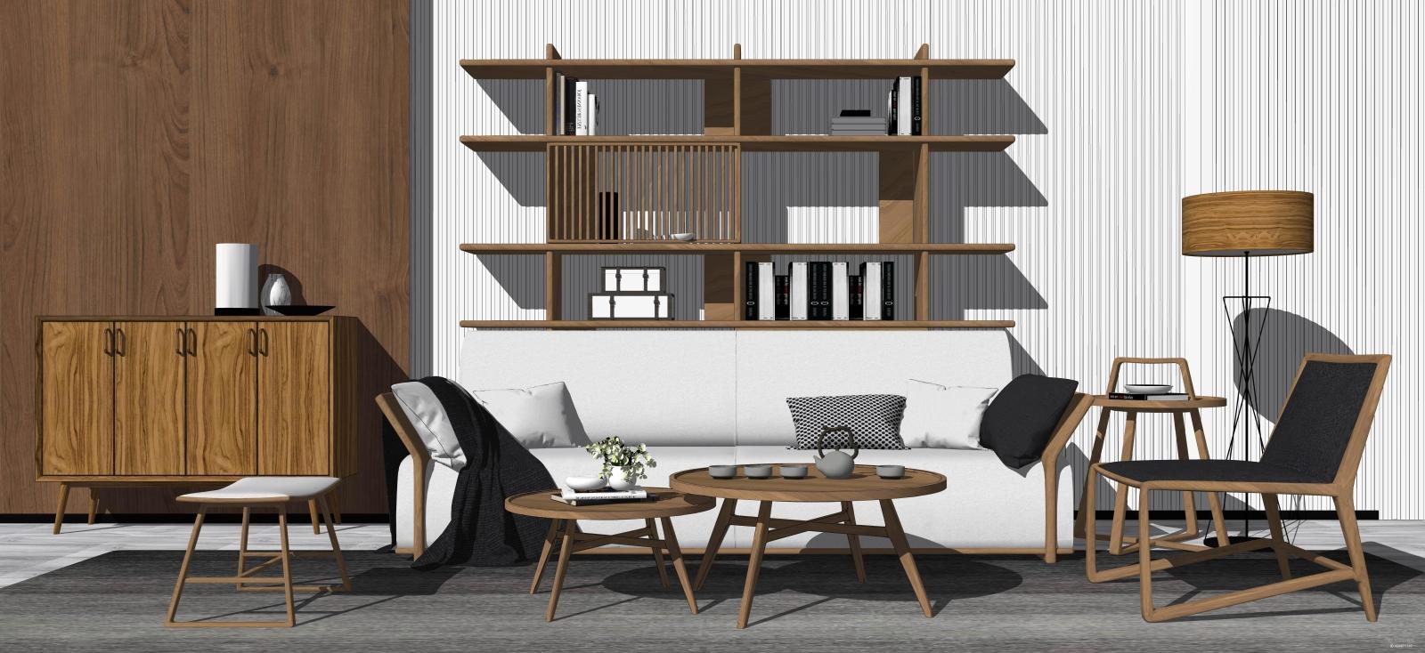 新中式沙发组合 多人沙发