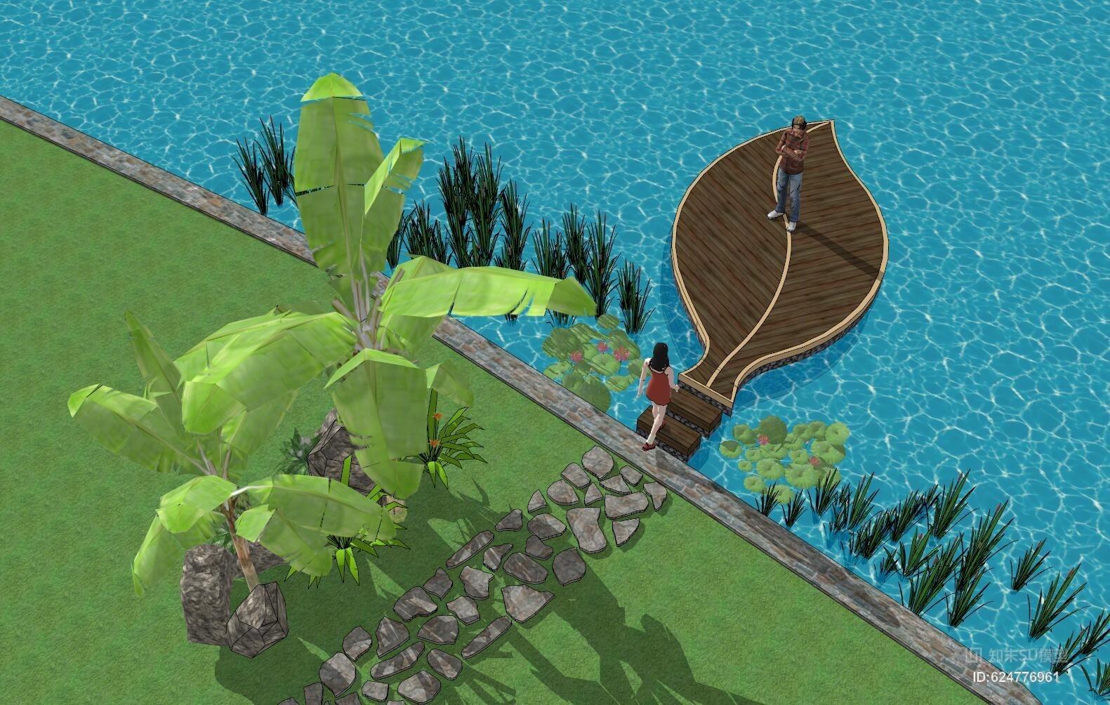 树叶 露台 水景