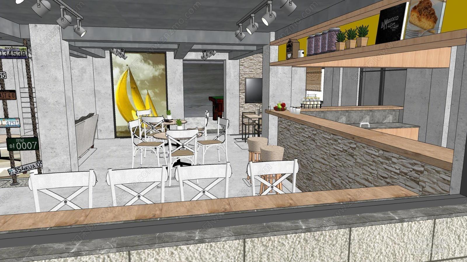 工业风咖啡厅花园餐厅