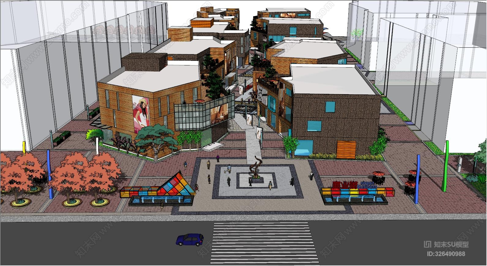 现代风格街区式步行街