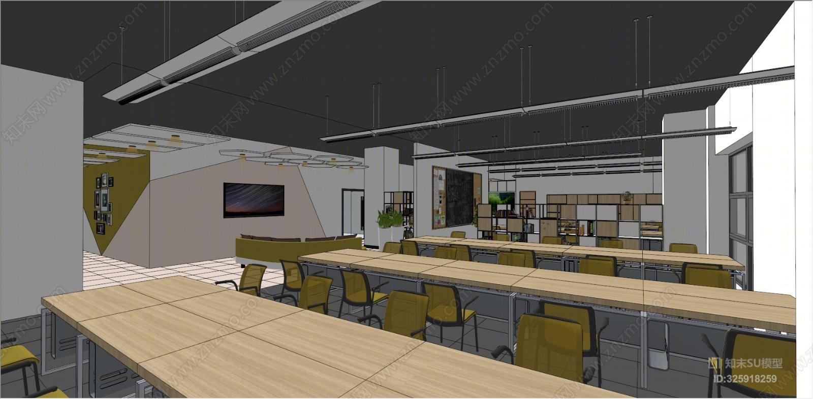 现代风格办公室 茶水间
