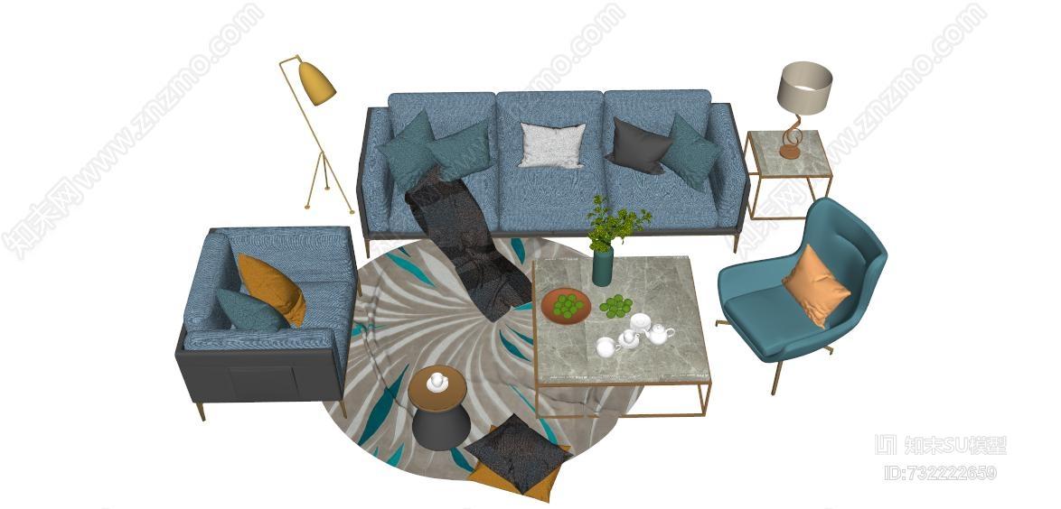 现代北欧客厅家具组合包 饰品 杂物筐 箱包 雨伞