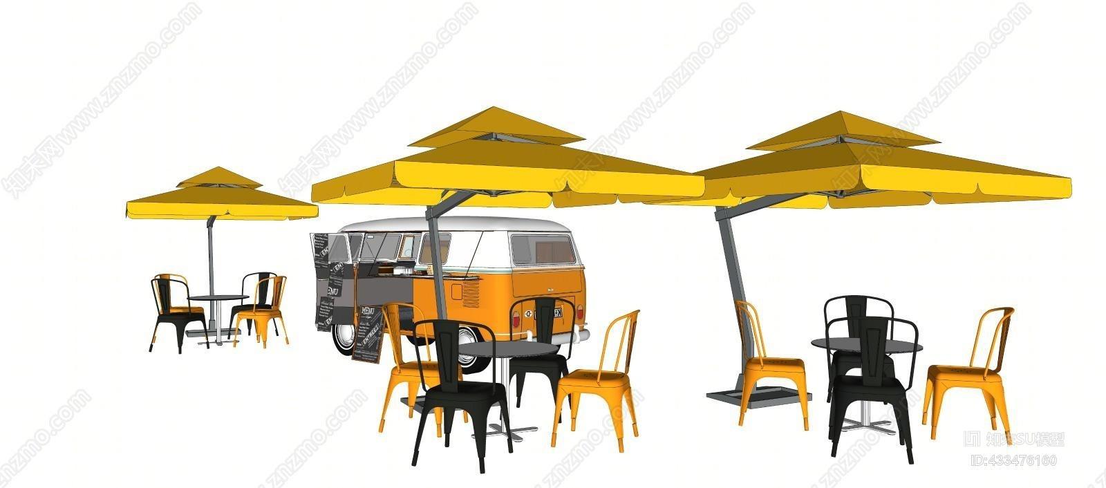 冰淇淋黄色售卖车