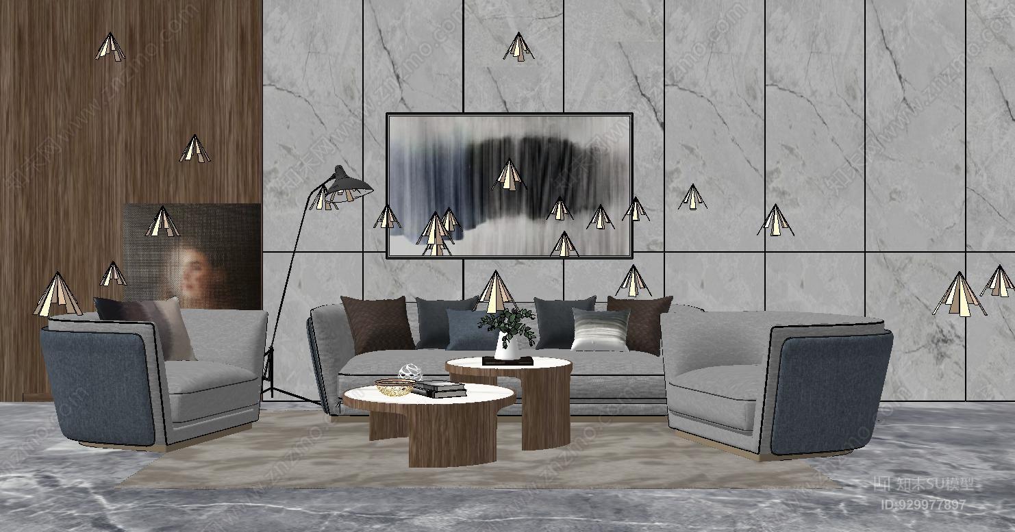 现代简约轻奢客厅沙发组合